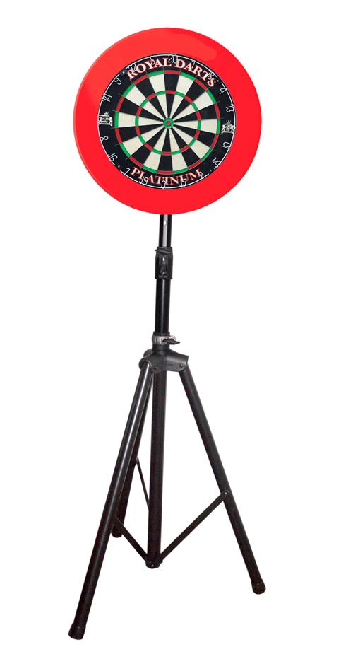 Royal Darts Dartboardständer mit Dartscheibe Platinum